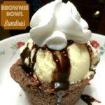 Brownie Bowl Sundae