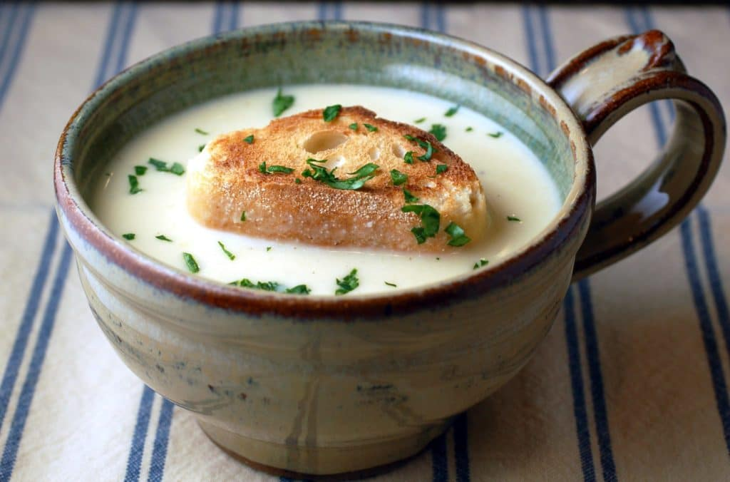 James Beard's Garlic Soup Recipe