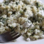 Spinach Goat Cheese Risotto
