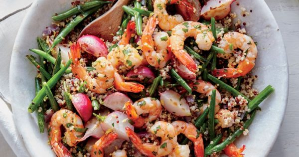 Lemon-Garlic Shrimp with Quinoa