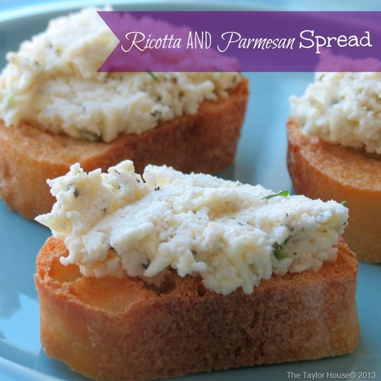 Ricotta and Parmesan Spread - Going My Wayz
