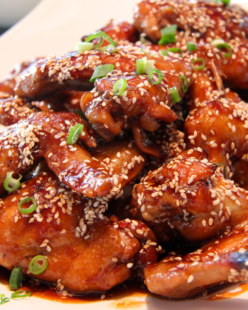 how to make honey glazed chicken wings