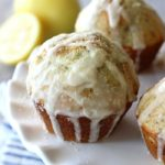Honey Glazed Chia Seed Lemon Muffins