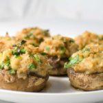 Boursin-Stuffed Mushrooms