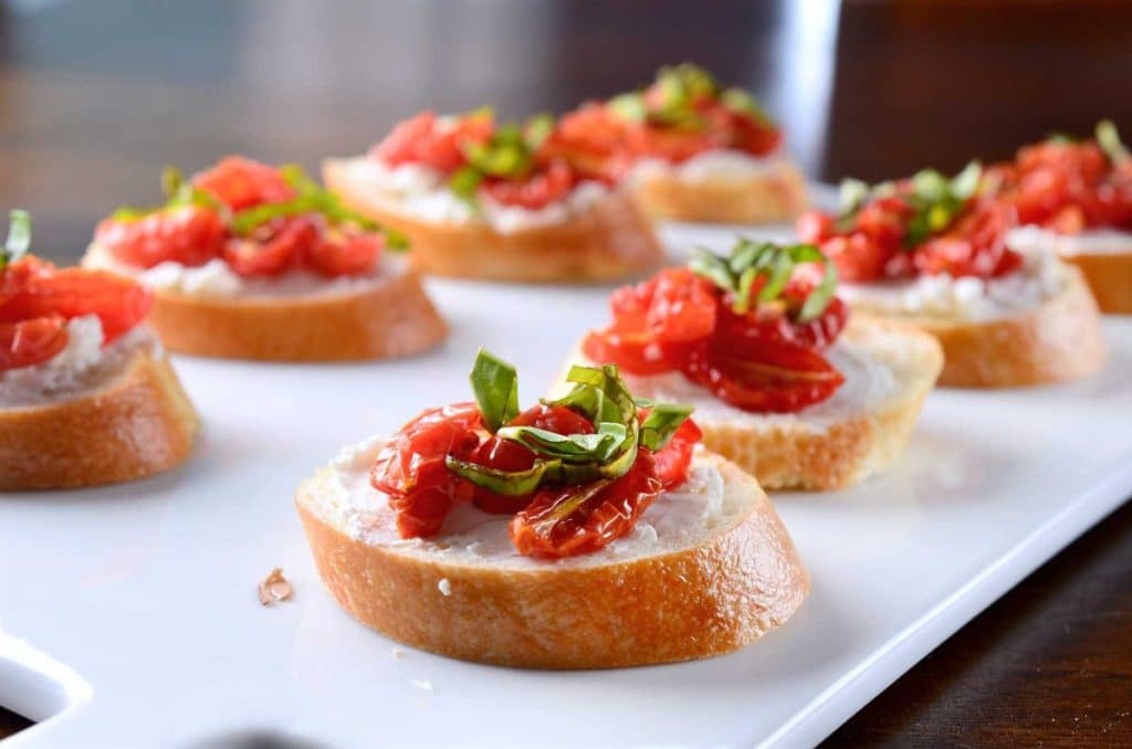 Fresh Tomato Crostini
