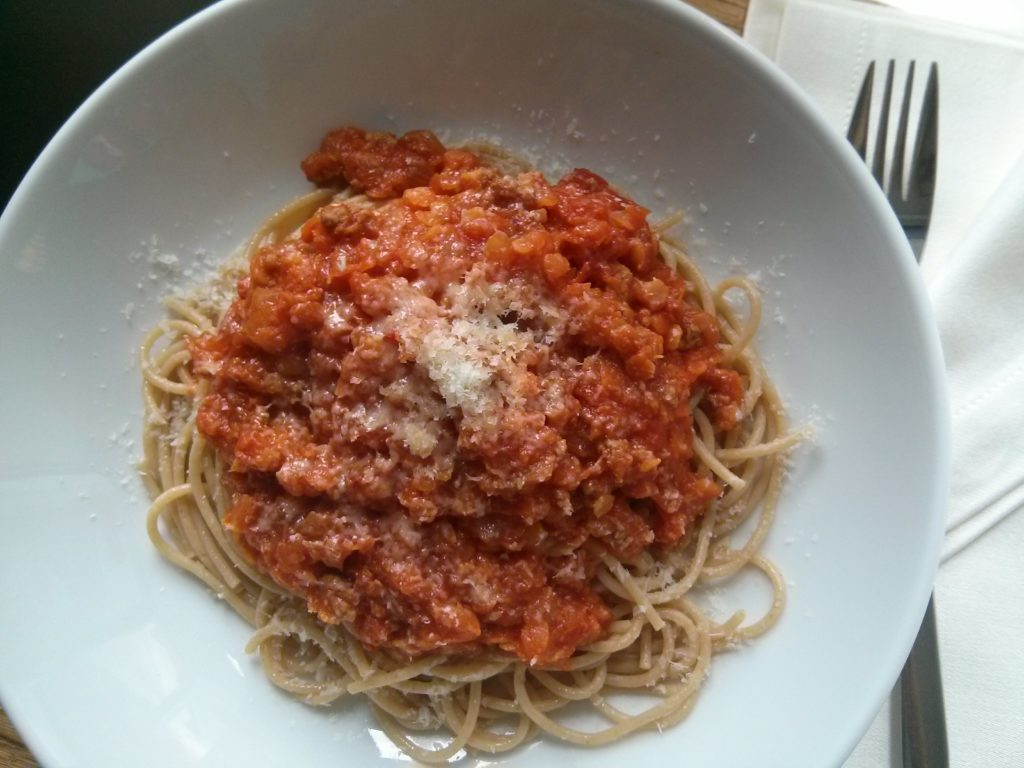 Camp David Spaghetti With Italian Sausage