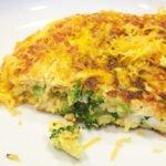 Broccoli Mushroom Cheddar Omelet