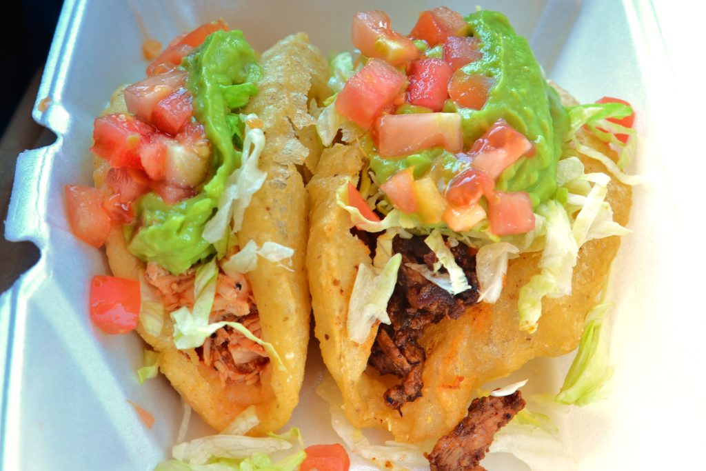 Beef Puffy Tacos